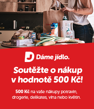 Vyhrajte 500 Kč na nákup s rozvozem od Dáme jídlo!